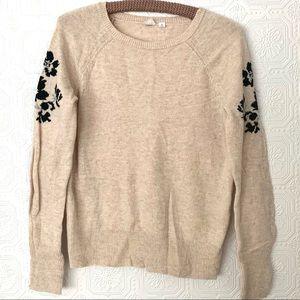 Gap Floral Sleeved Raglan Pullover